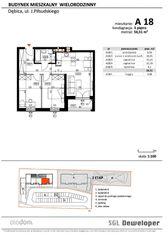 Mieszkanie deweloperskie o pow. 56,51 m2 w Dębicy