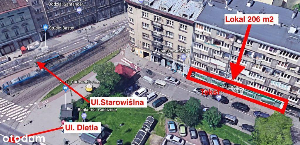Lokal Kraków róg ul. Dietla i Starowiślnej