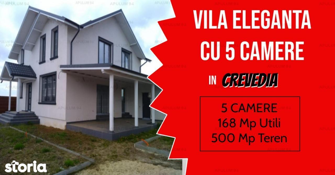 Vila Eleganta cu 5 Camere si 500 mp Teren  in Crevedia