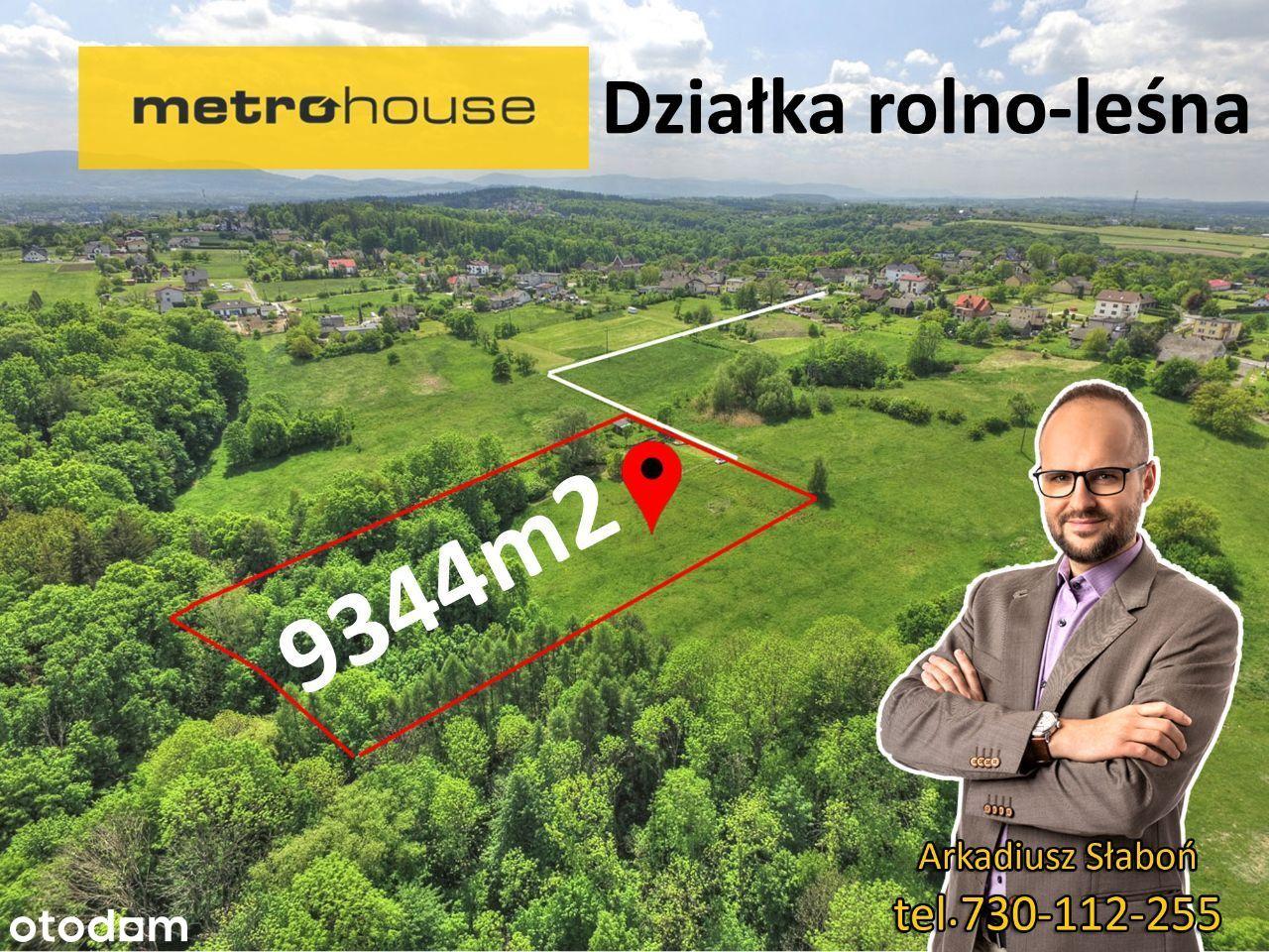 Działka rolno-leśna 9344m2 z lasem.