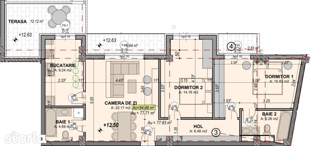 PENTHOUSE 77,71 MP utili + terasa + balcon
