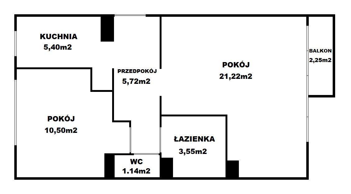 Piękne Mieszkanie Wykończone 48m2 + balkon piwnica