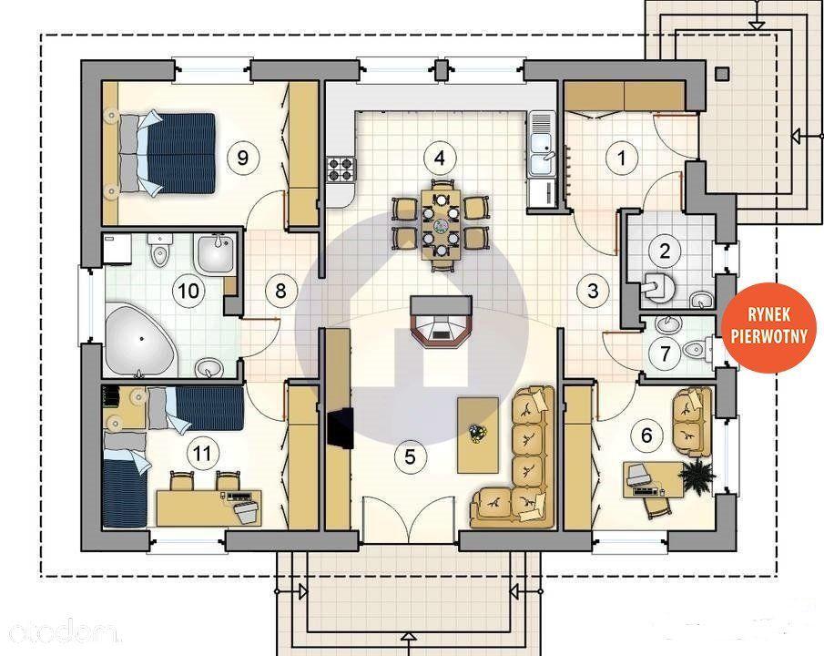 Nowy dom parterowy energooszczędny