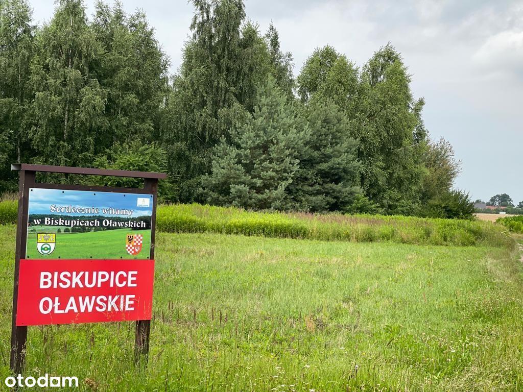 Działki budowlane Biskupice Oławskie