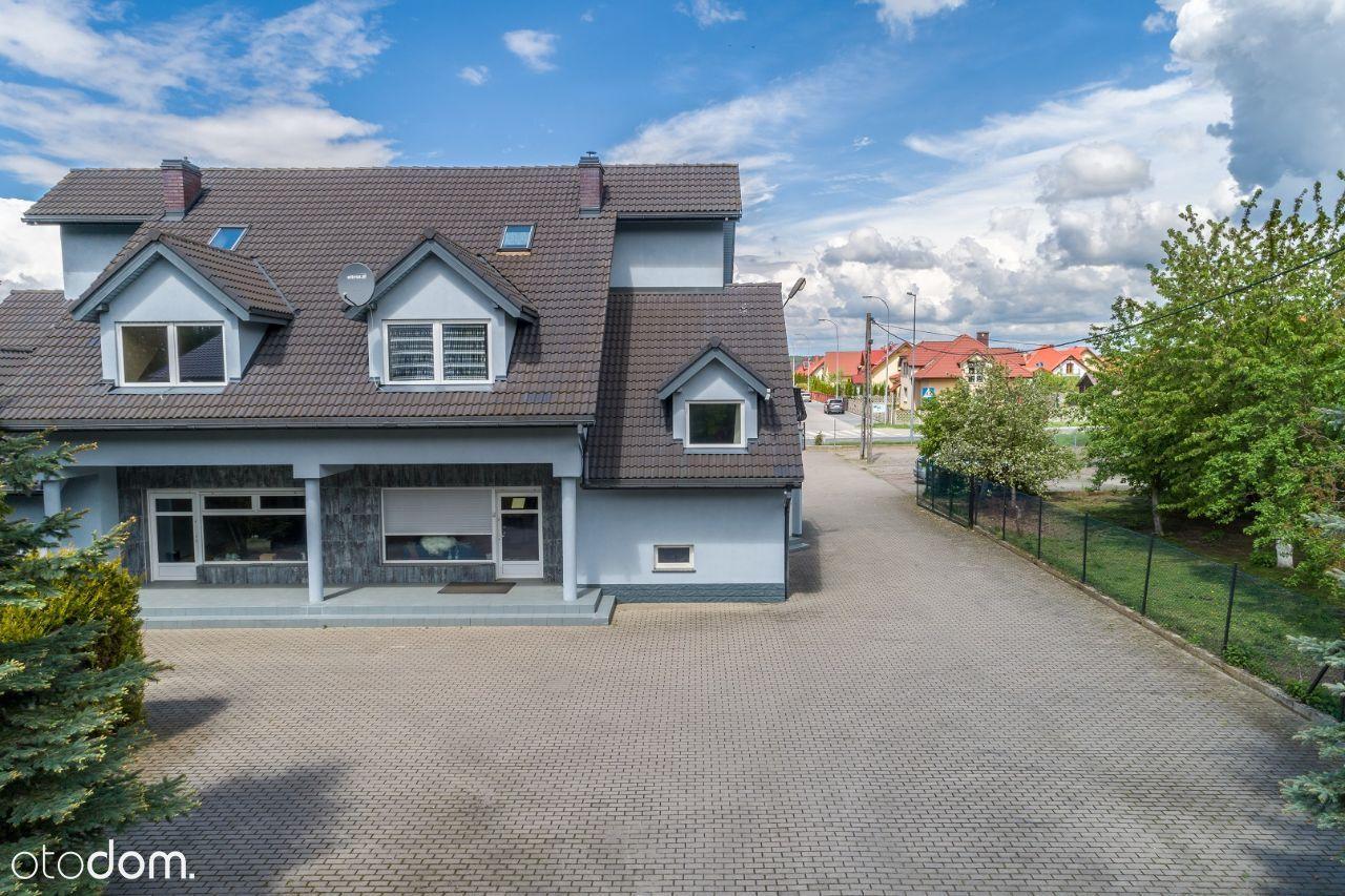 Kompleks nieruchomości - dom bliźniak + hala