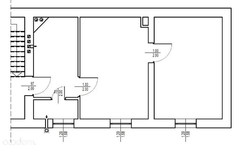 Centrum, 58 m2, 2 pokoje