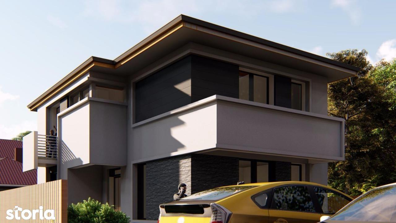 PROIECT deosebit la asfalt casa 4 camere P+1 terasa camera tehnica