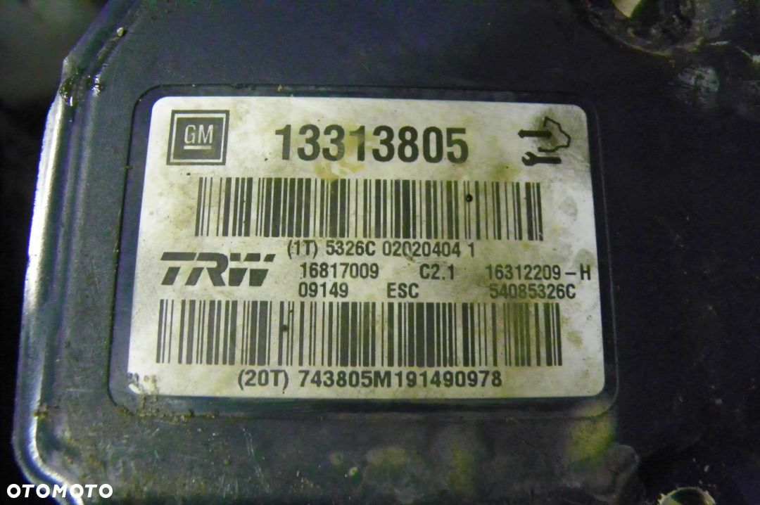 POMPA ABS OPEL INSIGNIA 13313805 - 1