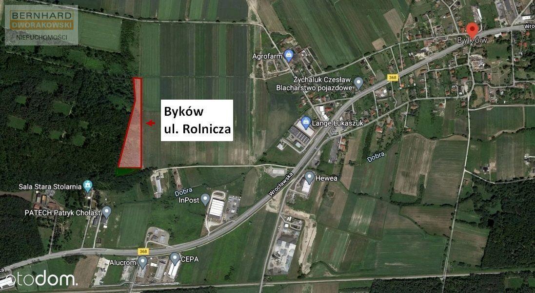 Działka rolna w Bykowie (gm. Długołęka) 2,60 ha