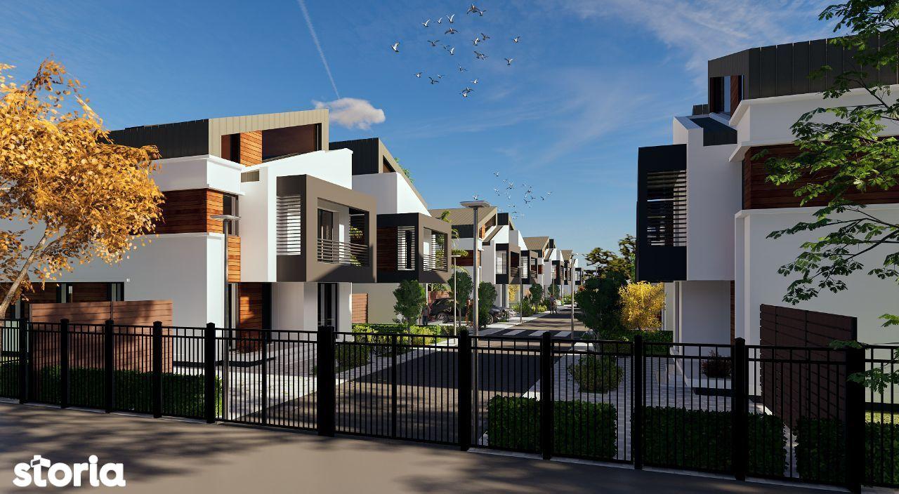 PROPRIETAR Vând casă individuală cu teren 300mp, în rezidențial nou