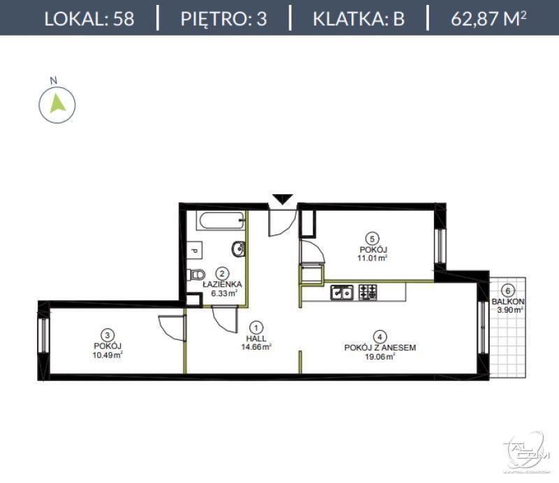 LAZUROWA 168 - Warszawa/ Bemowo 62,87 m²