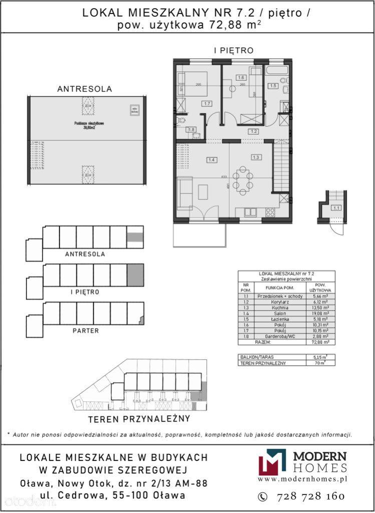 Cedrowa, 4 pokoje, balkon, ogródek