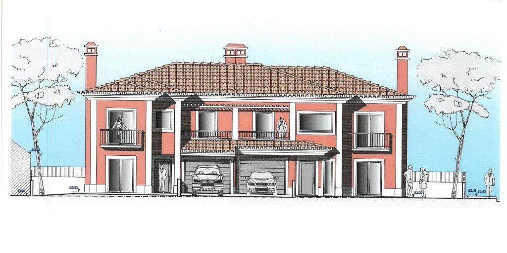Moradia Geminada T4   Em Construção   Lote com 500 m2   Azeitão