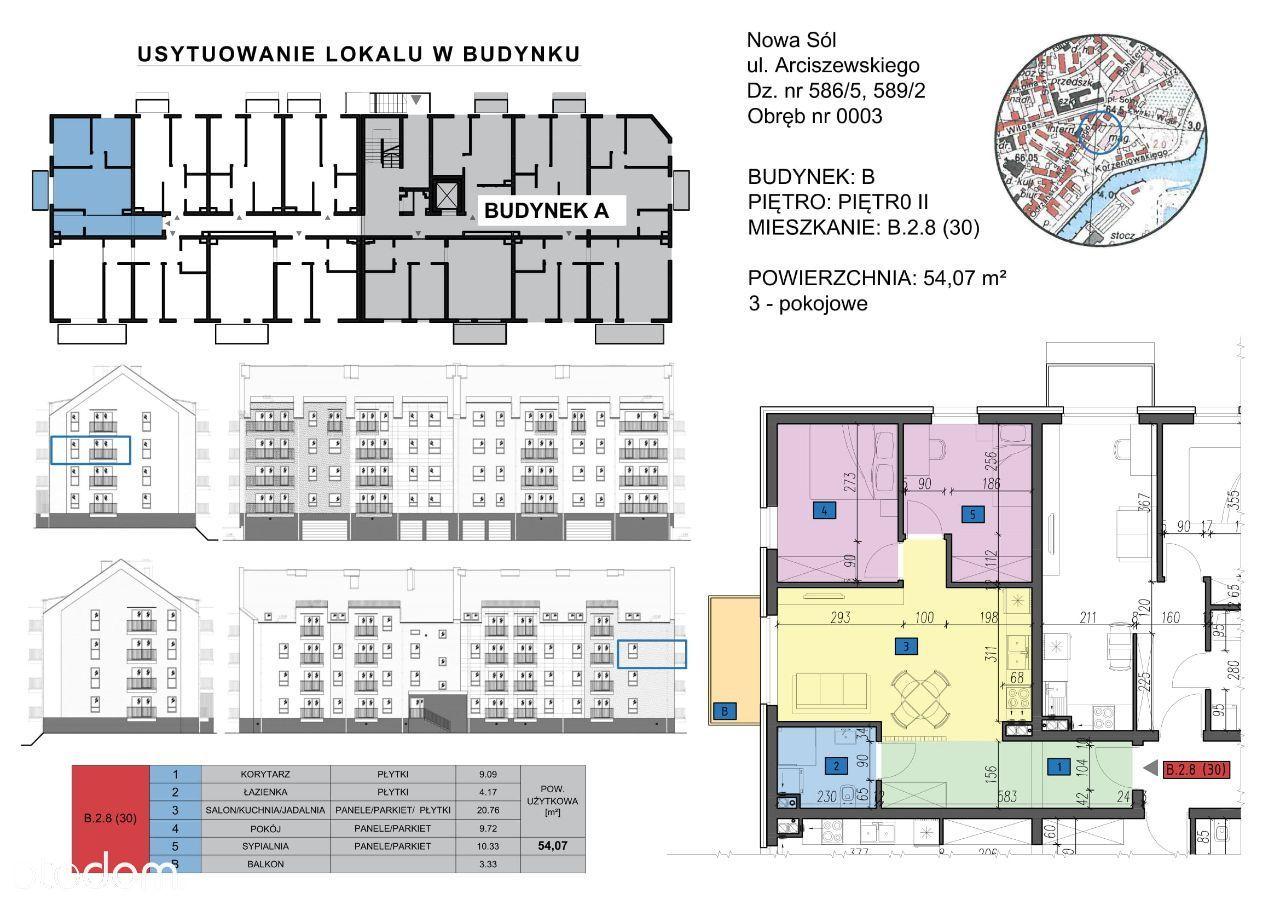 Mieszkanie: B.2.8 (30) - 3 pokoje