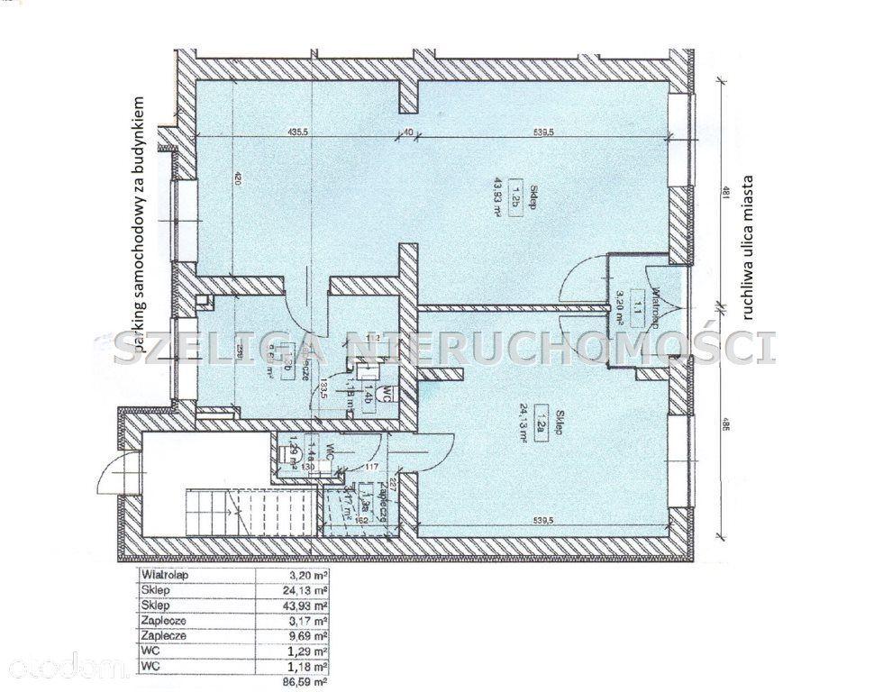 Lokal użytkowy, 86,83 m², Gliwice