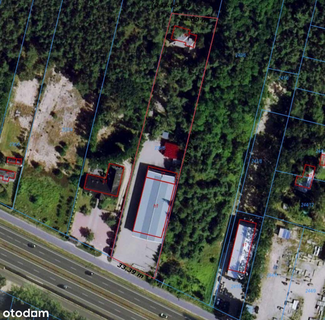 Hala/Magazyn, 1 000m² + dom/biuro 350m², Łomianki