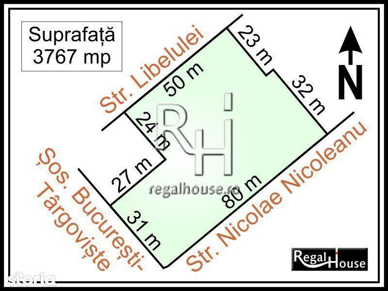Sos. Bucuresti-Targoviste stradal, teren 3767 mp