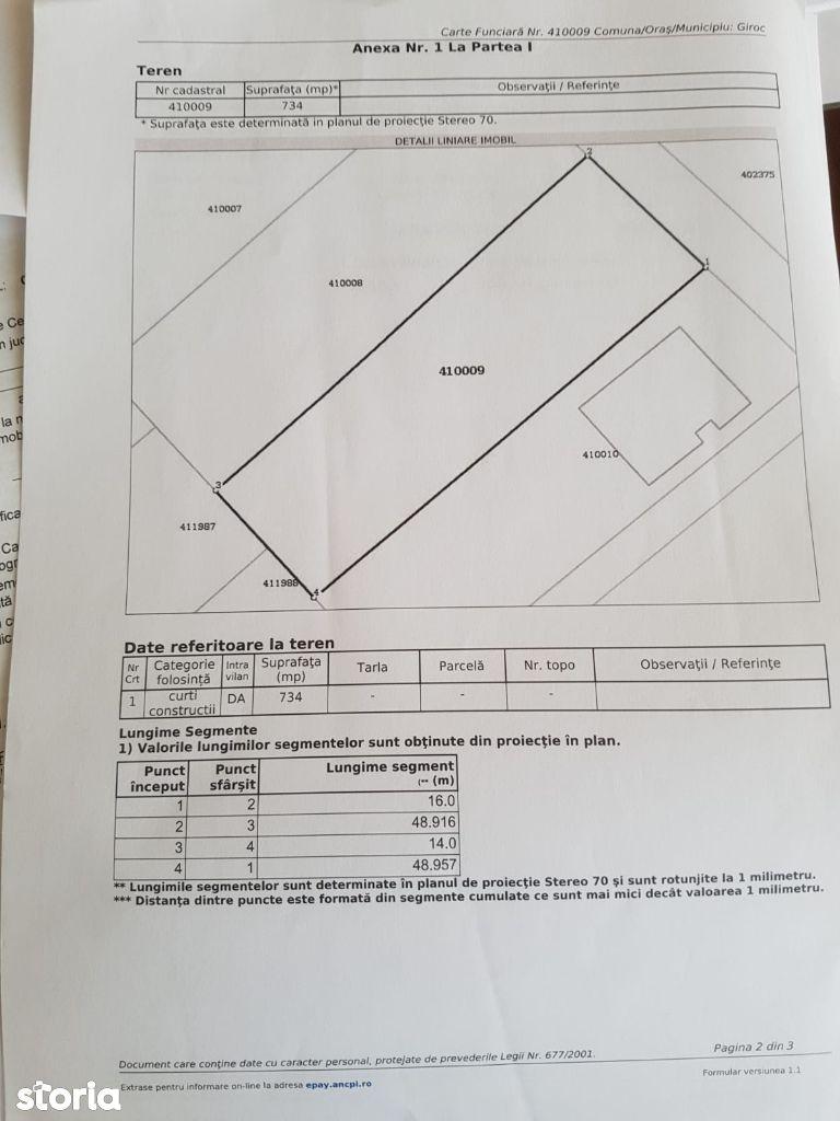 Calea Urseni - 734 mp - 55.000euro