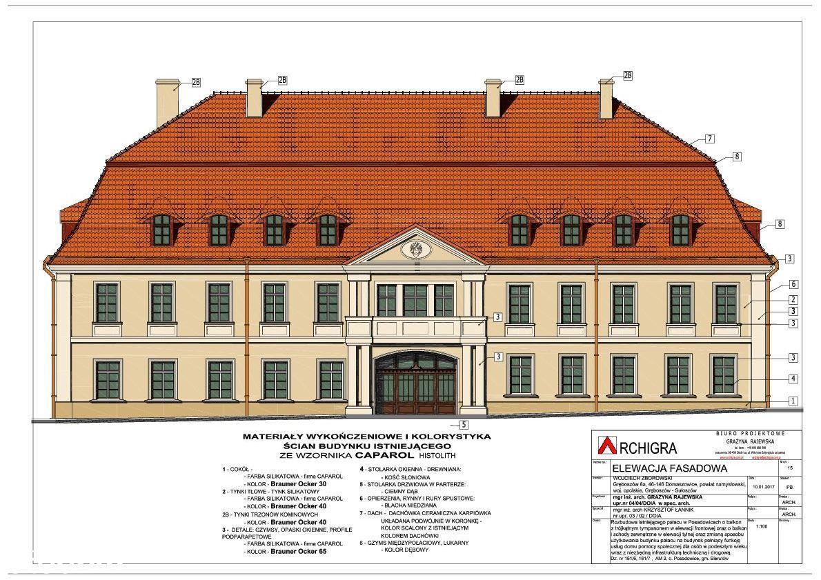 Pałac z parkiem i pozw bud ok Wrocławia