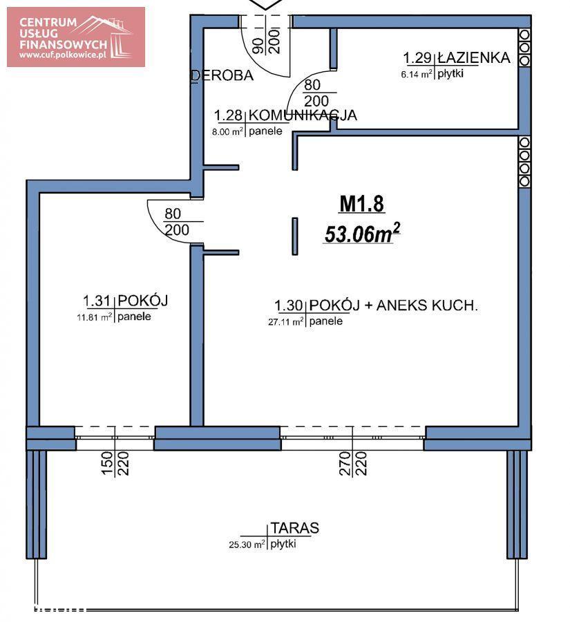 Nowe budownictwo 2 pok. 53,27 m2, Wołodyjowskieg