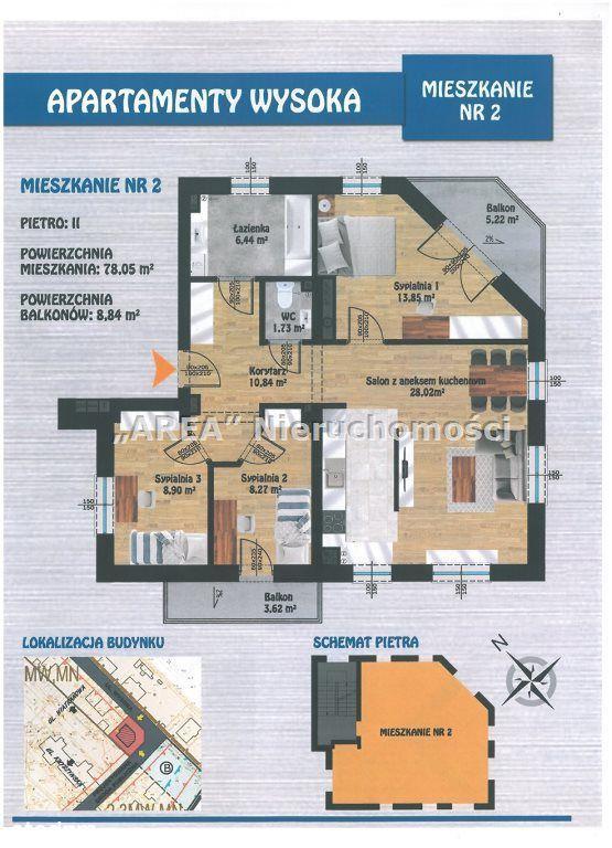 Apartamenty Wysoka - 4 pokoje,II piętro, 2 balkony