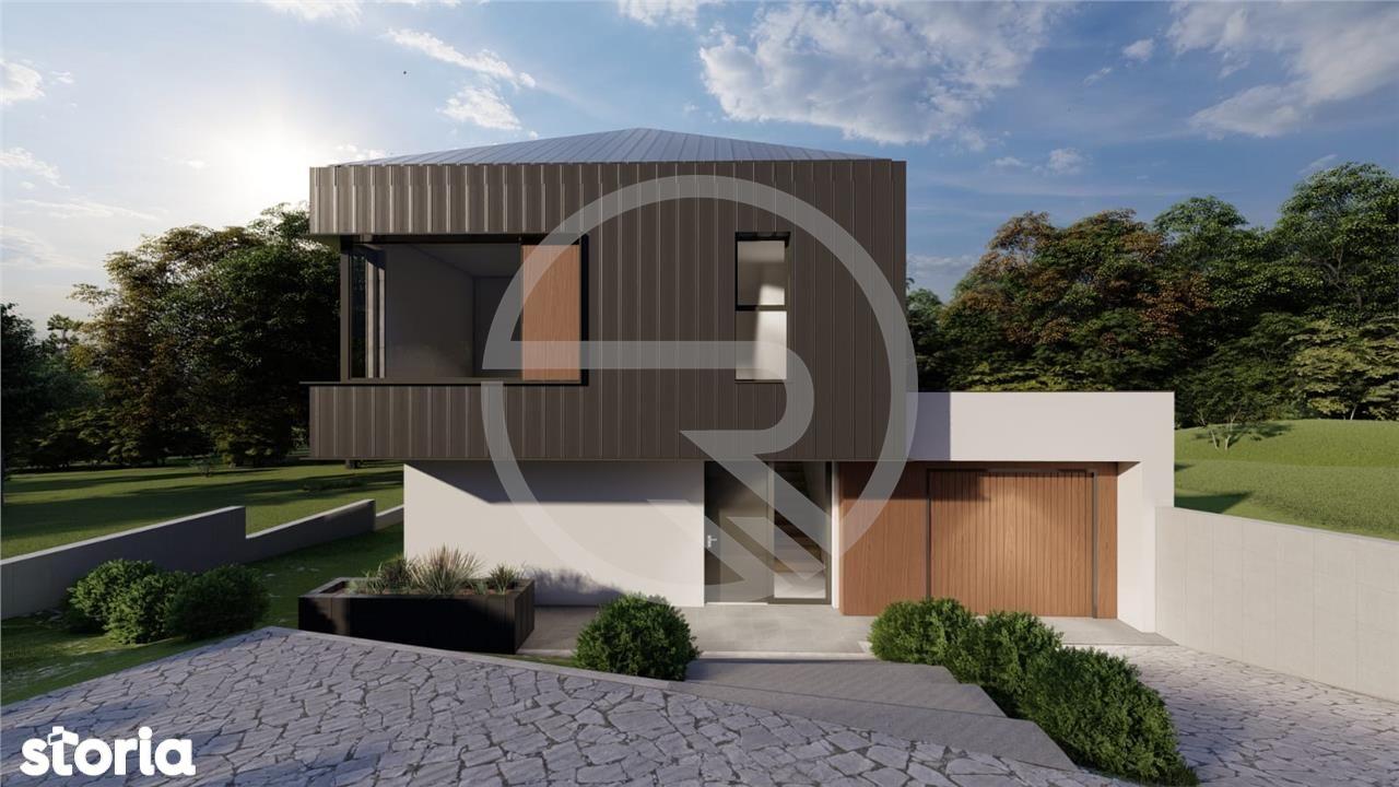 Casa individuala 200 mp utili+Garaj, teren 500 mp.Zona exclusiv de cas