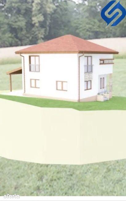 casa cu 4 camere, incalzire in pardoseala- Chinteni