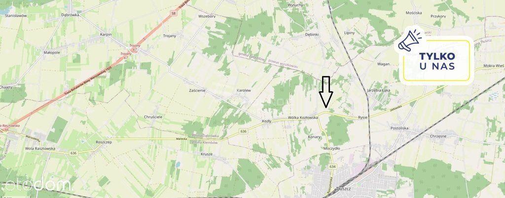 Działka 30 minut od Warszawy. 6700 m2.