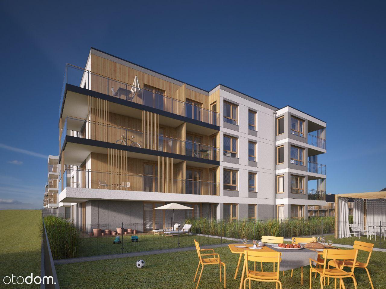 2 pokoje mieszkanie z dużym ogrodem 61,94m2