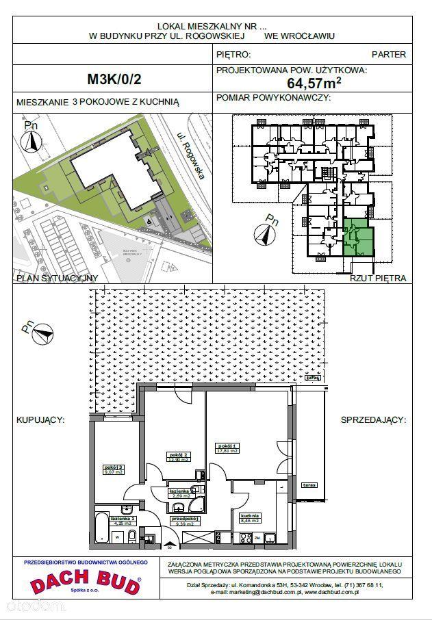 3-pokoje, 2 łazienki, piękny taras, Rogowska 151