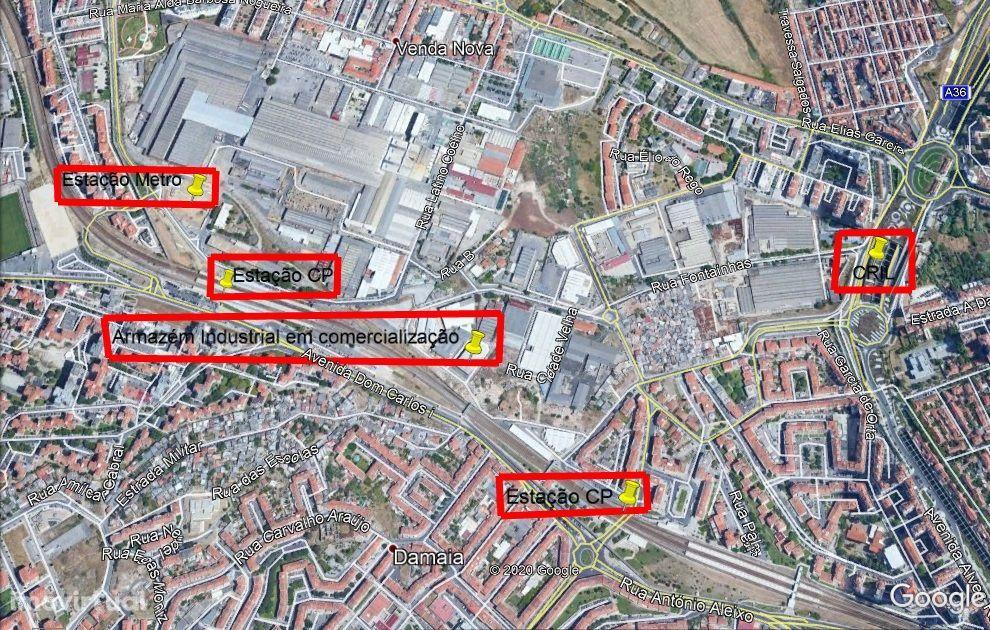 Armazém industrial / CRIL a 500m / Metro a 300m / estação CP a 100m