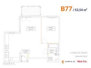 KARPIA 22, I etap, mieszkanie nr B 77