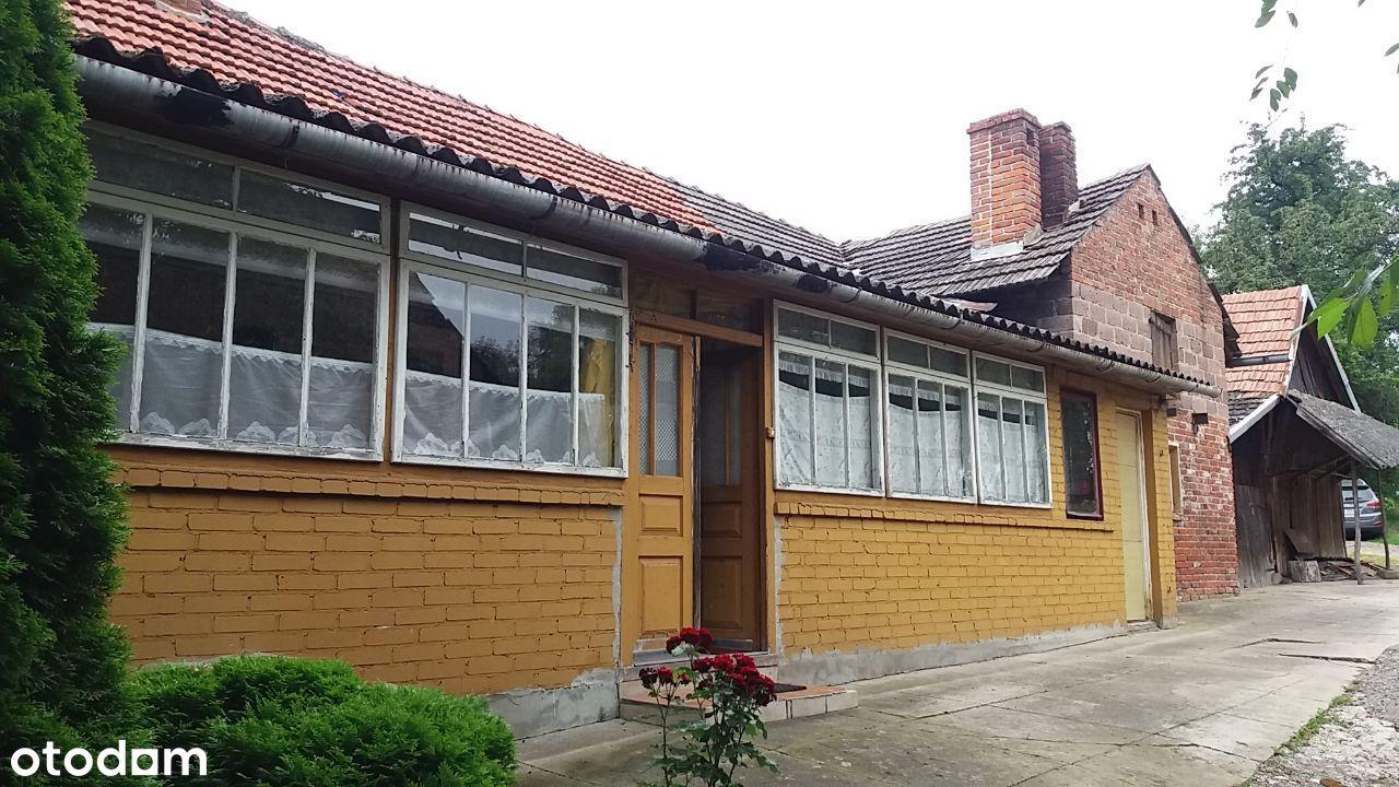 NOWOSIELCE dom drewniany sprzedam działka 42 ary