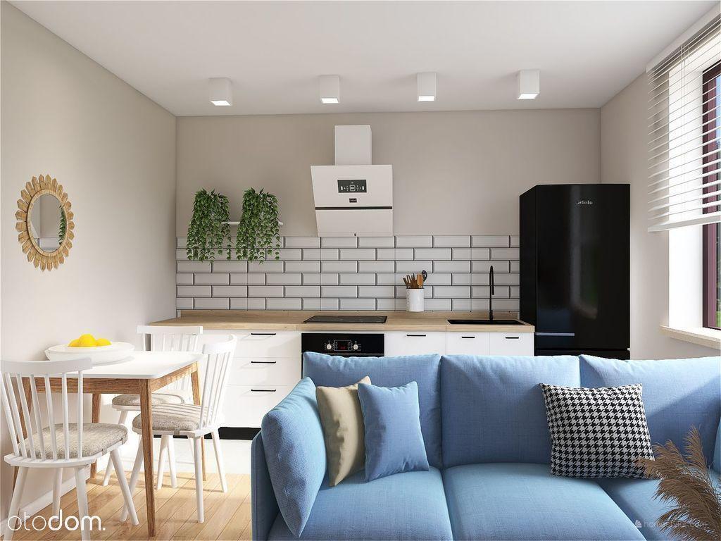 Dwupokojowe mieszkanie w stylu skandynawskim