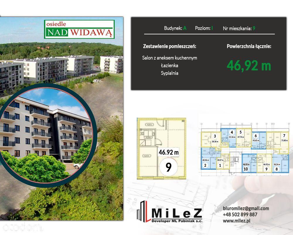 Mieszkanie 2 pokoje o pow. 46,92 m2
