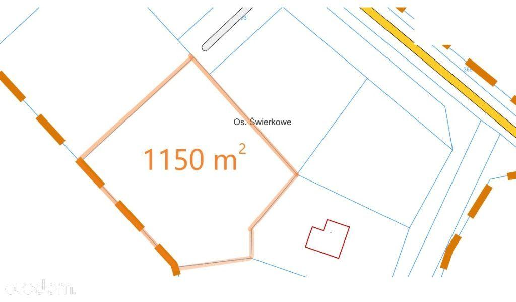 Działka, 1 150 m², Lubochnia