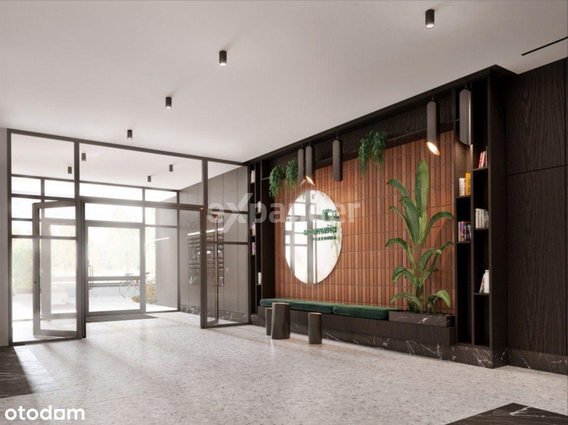 3-pokoje z 2 łazienkami słoneczne z dużym balkonem