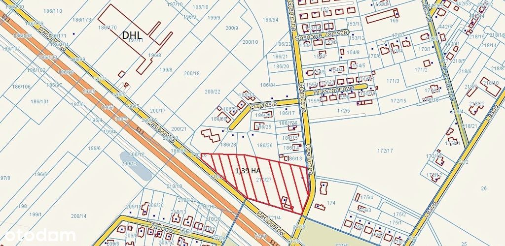 Działka, 13 906 m², Dąbrowa