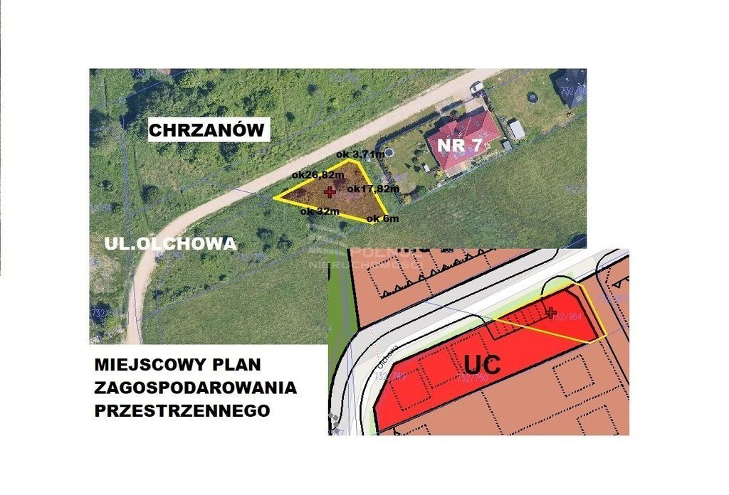 Działka komercyjna - ul. Olchowa Chrzanów