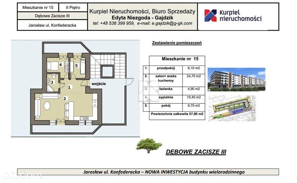 Mieszkanie deweloperskie Jarosław 3 pokoje 57 m2