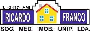Agência Imobiliária: Ricardo Franco - Soc. Mediação Imobiliária Unip. Lda