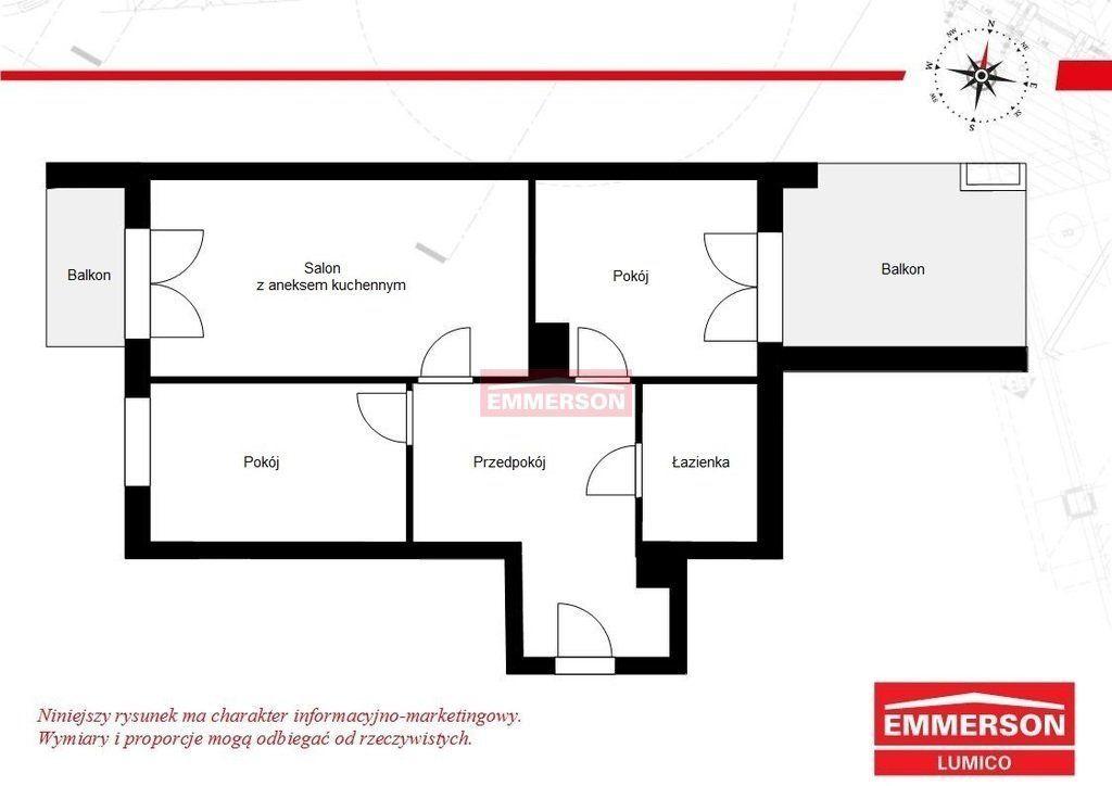 Dla rodziny 3 pokoje, 2 balkony, Płaszów
