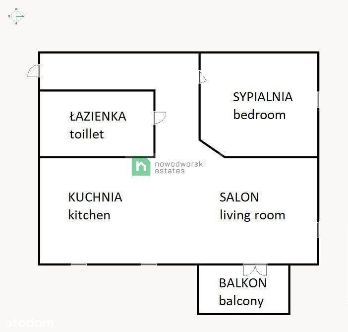 Po remoncie, 2 pokoje, parking, Gdańsk Chełm