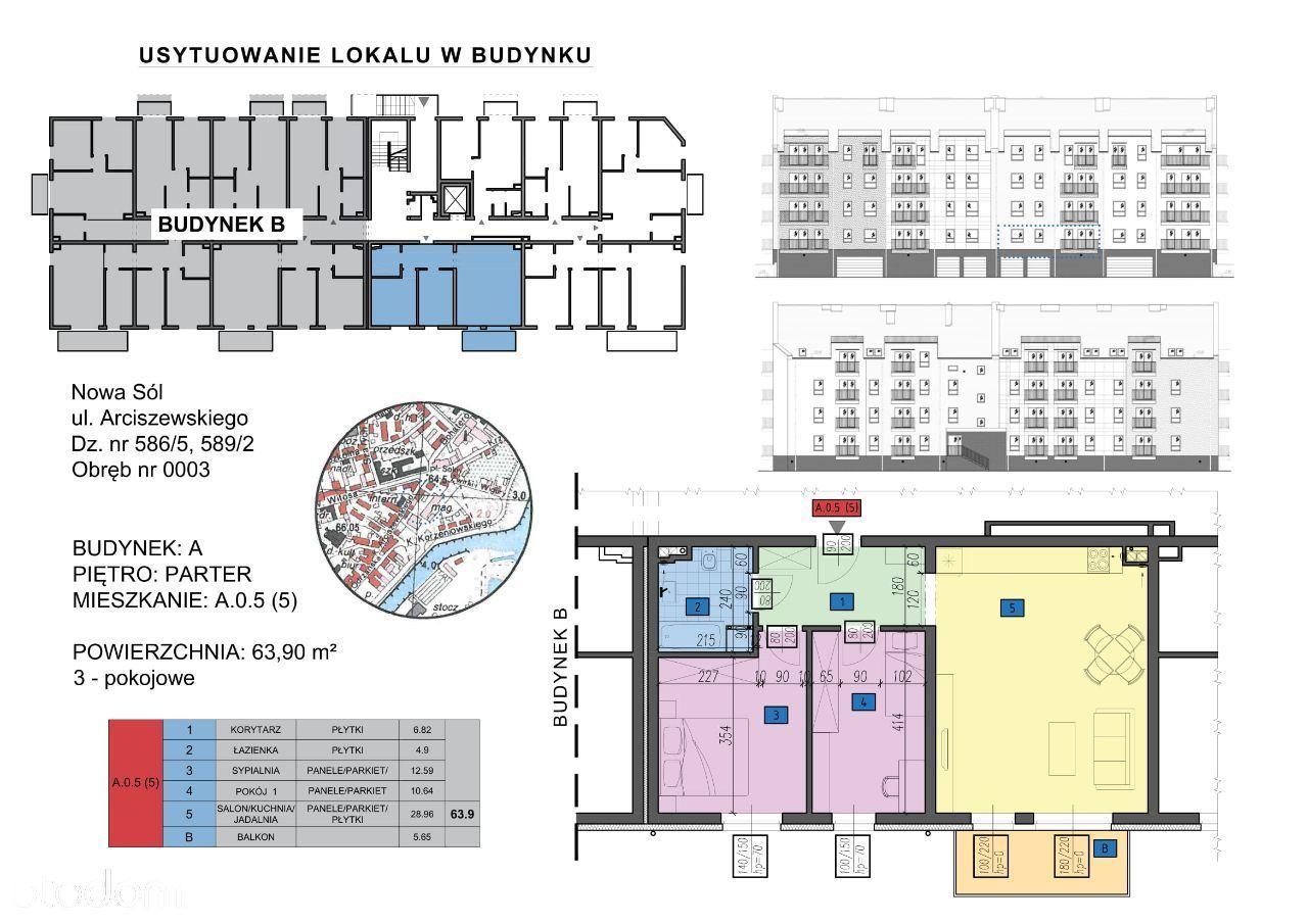 Mieszkanie: A.0.5 (5) - 3 pokoje
