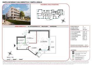 Mieszkanie w inwestycji Willa na Żeraniu 54,12 m2