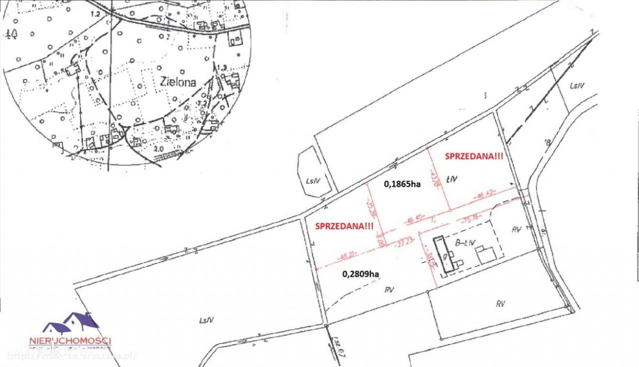 Działka, 2 809 m², Dąbrowica
