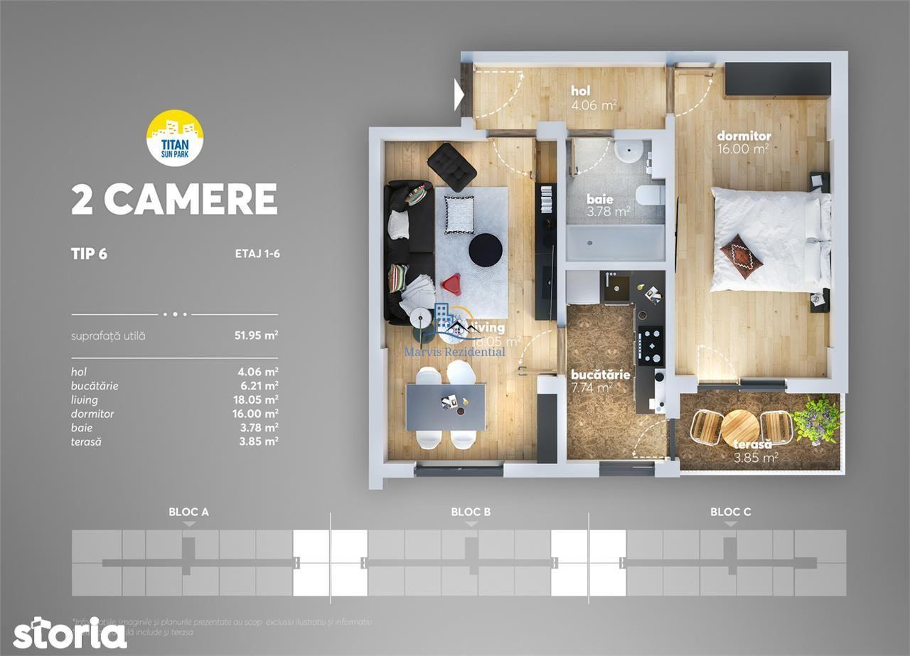 Apartament 2 camere, FINALIZAT, Mega Image, metrou Nicolae Teclu