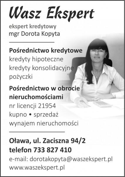 Wasz Ekspert Obrót Nieruchomościami Pośrednictwo Kredytowe Dorota Kopyta