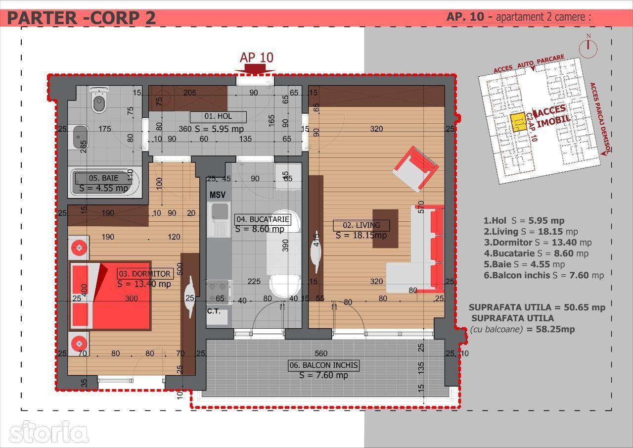 Dristor, 2 camere, 3 min de metrou, Ultimul apartament!