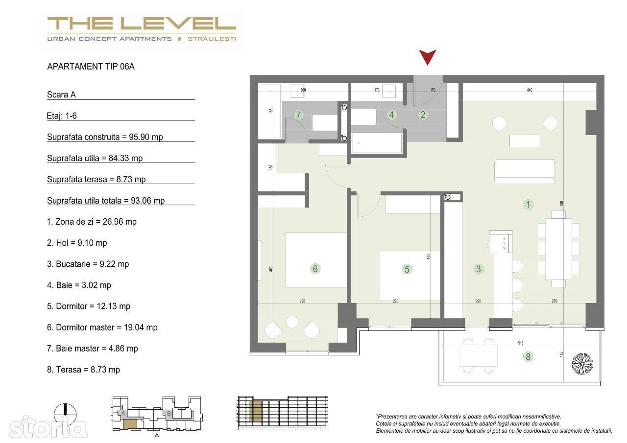 3 camere (06A) – Piata Presei – Straulesti – Petrom City – Level 2